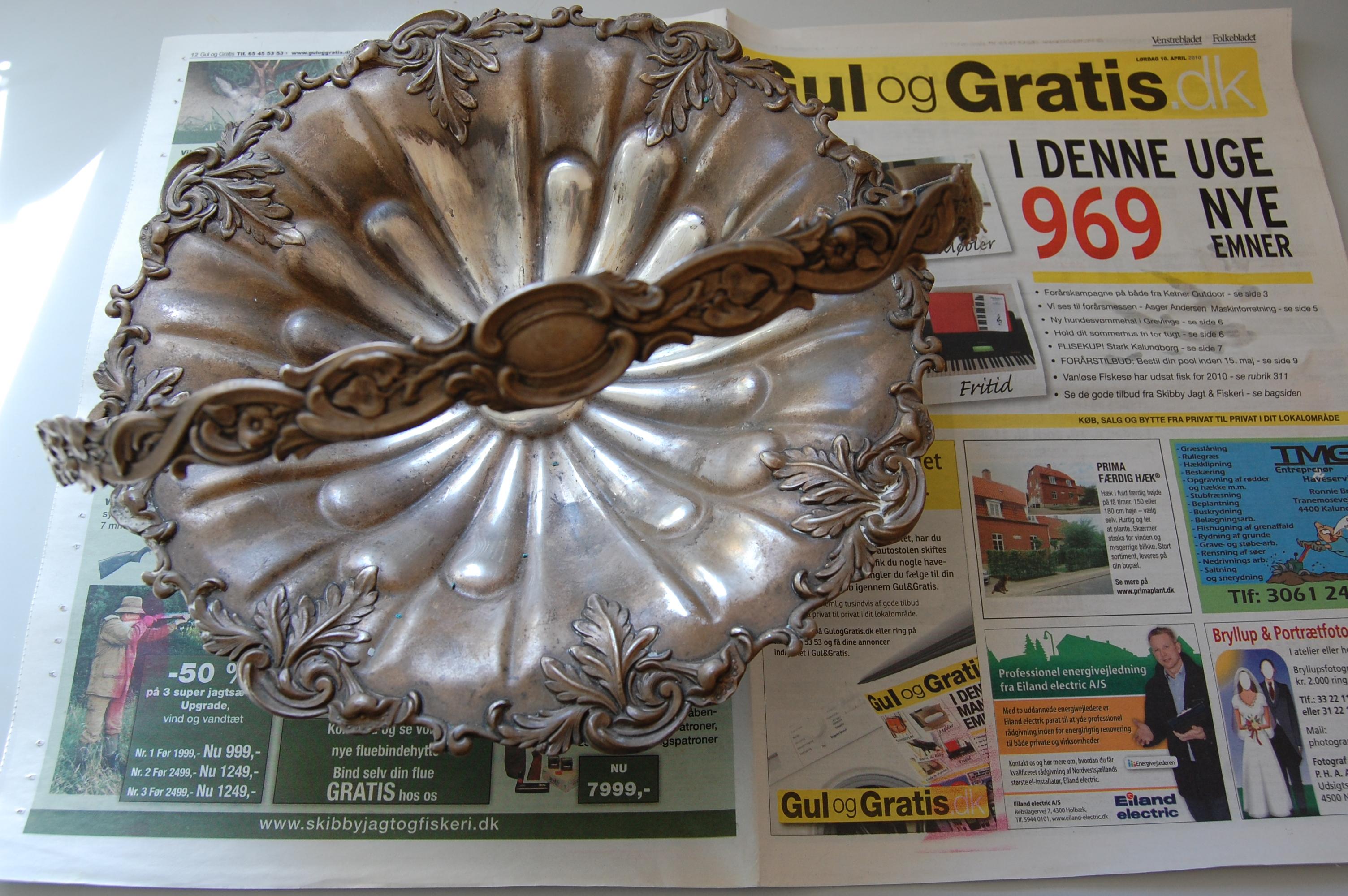 pudsning af sølvtøj